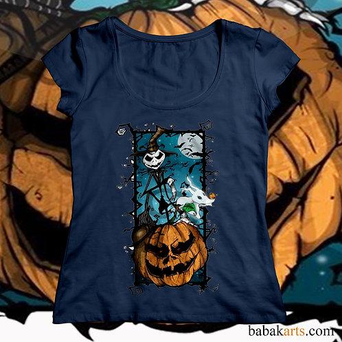 Halloween Shirts - Nightmare before Christmas - Jack Skellington on Pumpkin