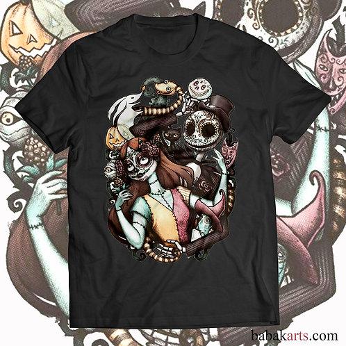 Halloween T-Shirt - Nightmare before Christmas - Jack Skellington and Sally Tee