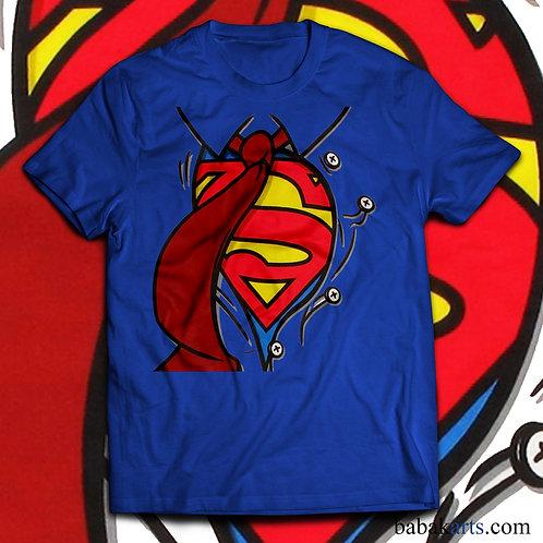 Superman Logo Tie T-Shirt - Superman Marvel Logo Shirt
