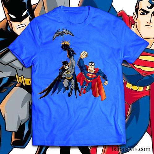 Batman and Superman T-Shirt - Superman batman comics shirt