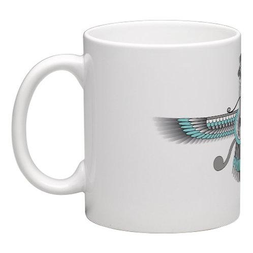 Silver Faravahar Mug