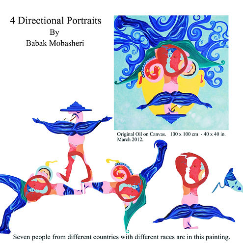 4 directional portrait (seven people) by