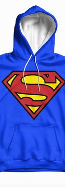Superman Blue Hoodies Original Logo .png