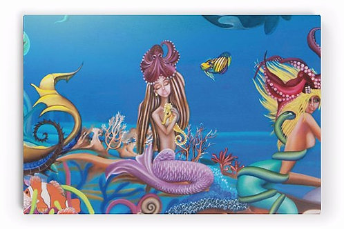 The Emotional Mermaid (Limited Edition on Canvas Art Print)