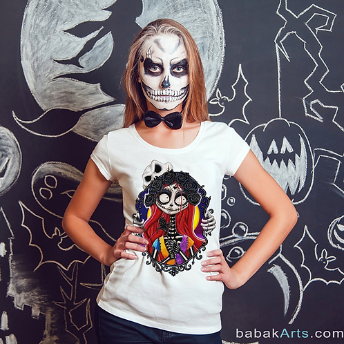 Halloween T-Shirt - Nightmare before Christmas - Sally Shock shirts