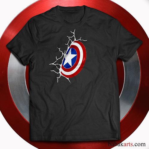 Captain America logo T-shirt, Captain America Shirts - Marvel Comics t s