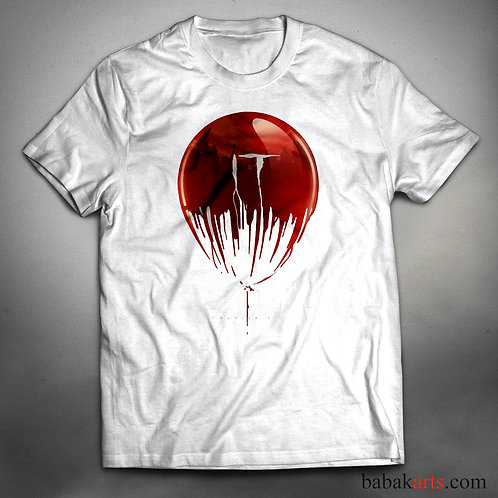 Halloween T-Shirt, Red Balloon, Pennywise Scary Clown Tee, IT Shirt