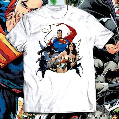 Superman Batman Wonder Women T-Shirt, Superheroes Tee Shirt