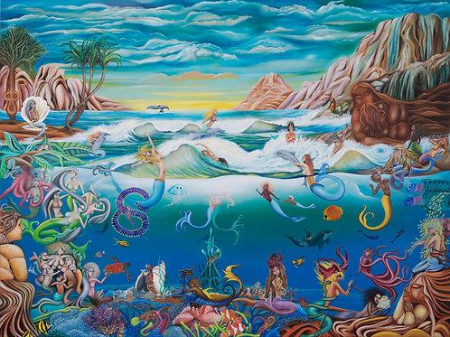 Mermaids in Wonderland Painting & Print