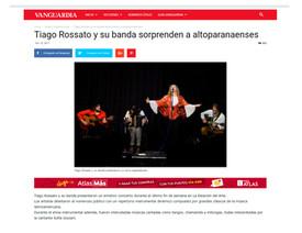 Tiago Rossato y su banda sorprenden a altoparanaenses