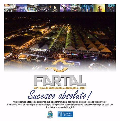 Fartal 2017 - Sucesso Absoluto!