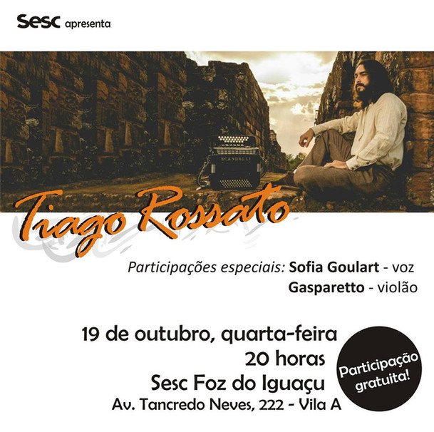 Show Sesc Tiago Rossato Acordeon Gaita Ponto