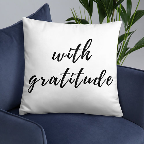 With Gratitude Throw Pillow
