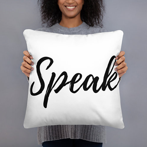 Speak Throw Pillow