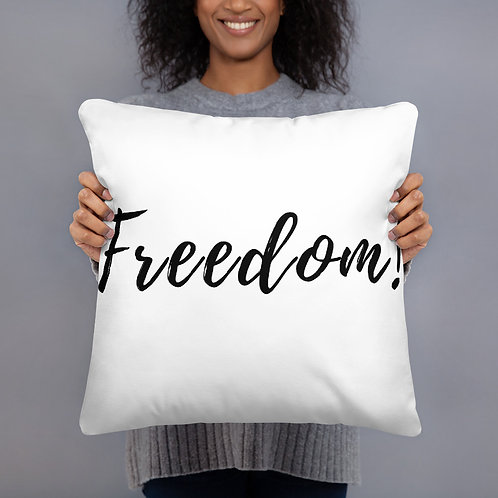 Freedom! Throw Pillow