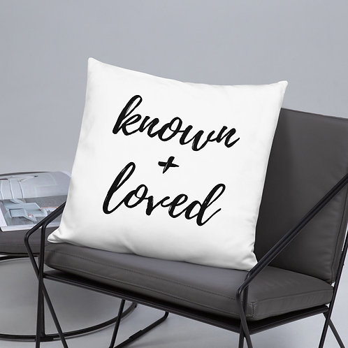Known + Loved Throw Pillow