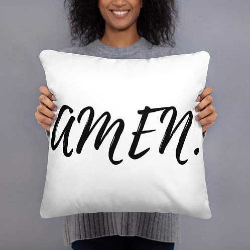 Amen. Throw Pillow