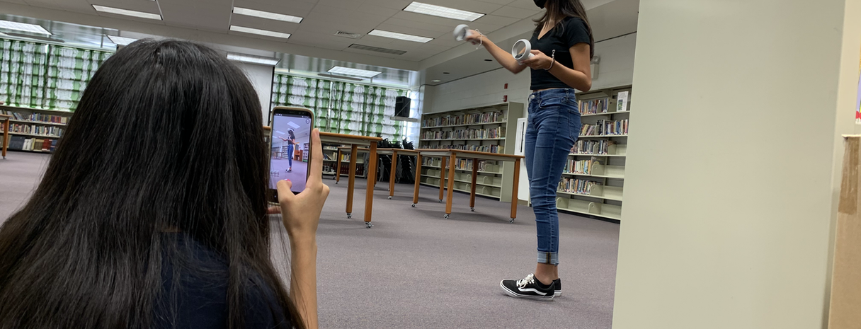 students and vr
