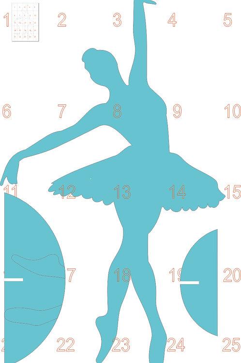 0006 - Bailarina em MDF Molde para imprimir