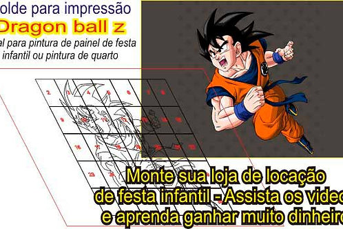 0024 - Painel Dragon Ball Z Molde para Imprimir