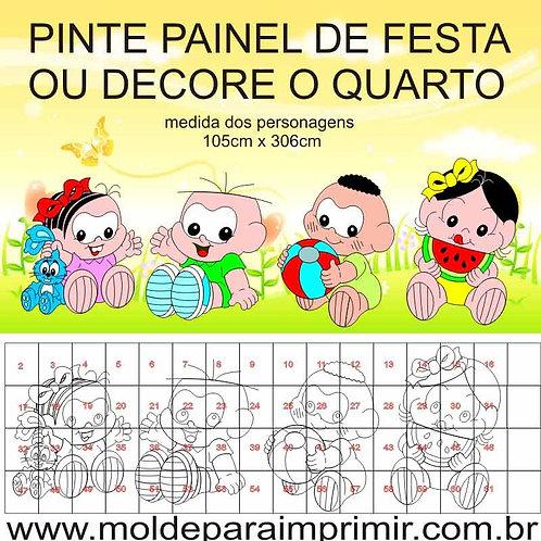 0062- Painel Turma da Monica Baby Molde para imprimir
