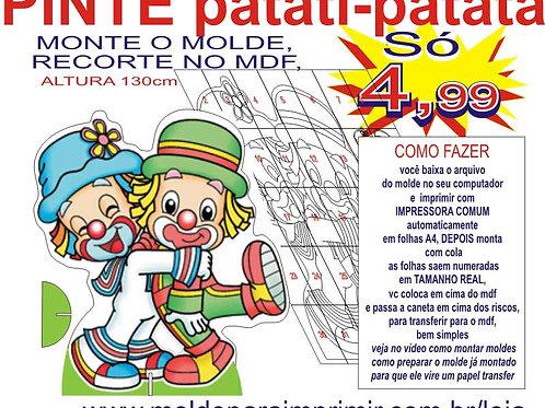 0054 - Patati e Patatá de chão Totem em MDF Molde para imprimir