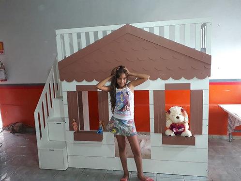 1001 - Cama Casinha Branca Chalezinho