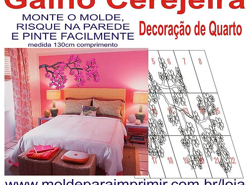 0063 - Painel Galho Cerejeira Molde para imprimir