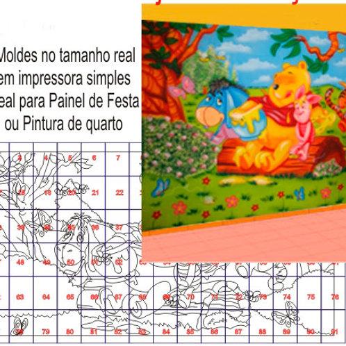 0025 - Painel Ursinho Pooh Molde para imprimir