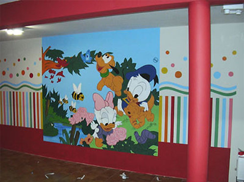 0007 - Painel Baby Disney Molde para imprimir