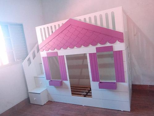 1002 - Cama Casinha Sonho de Menina