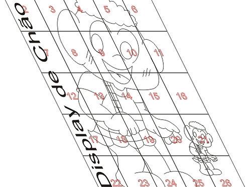 0056 - Cascão de chão Totem em MDF Molde para imprimir