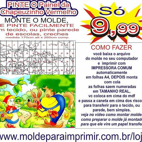 0058 - Painel Chapeuzinho Vermelho Molde para imprimir