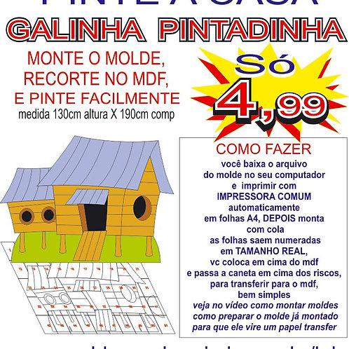 0069 - Display Casinha Galinha Pintadinha Molde para imprimir