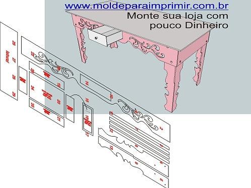 0013 - Mesa Provençal em MDF Molde para imprimir