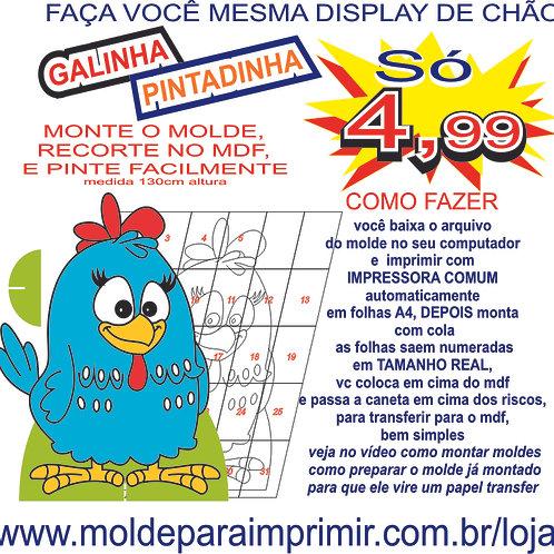0070 - Display Galinha Pintadinha Totem Molde para imprimir