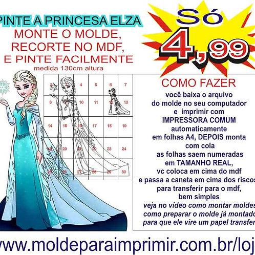 0050 - Elsa Frozen Totem display em MDF Molde para imprimir