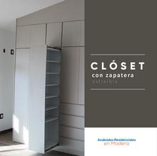 Closet Melamina. Acabados Residenciales en Madera, Puebla.