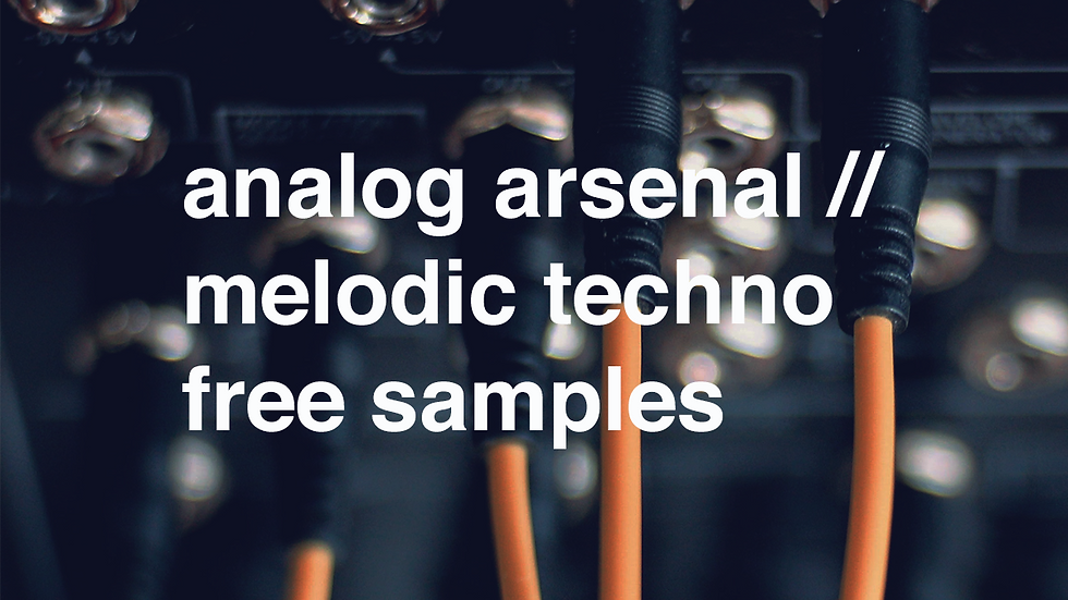 analog arsenal// melodic techno vol. 1 free samples