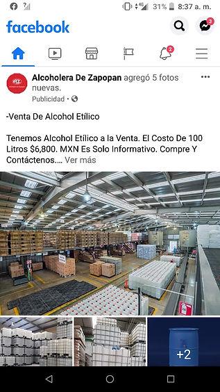 fraude venta de alcohol alcoholera zapop