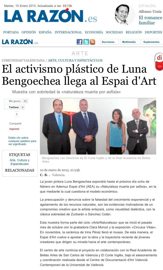 La Razón newspaper, Spain.