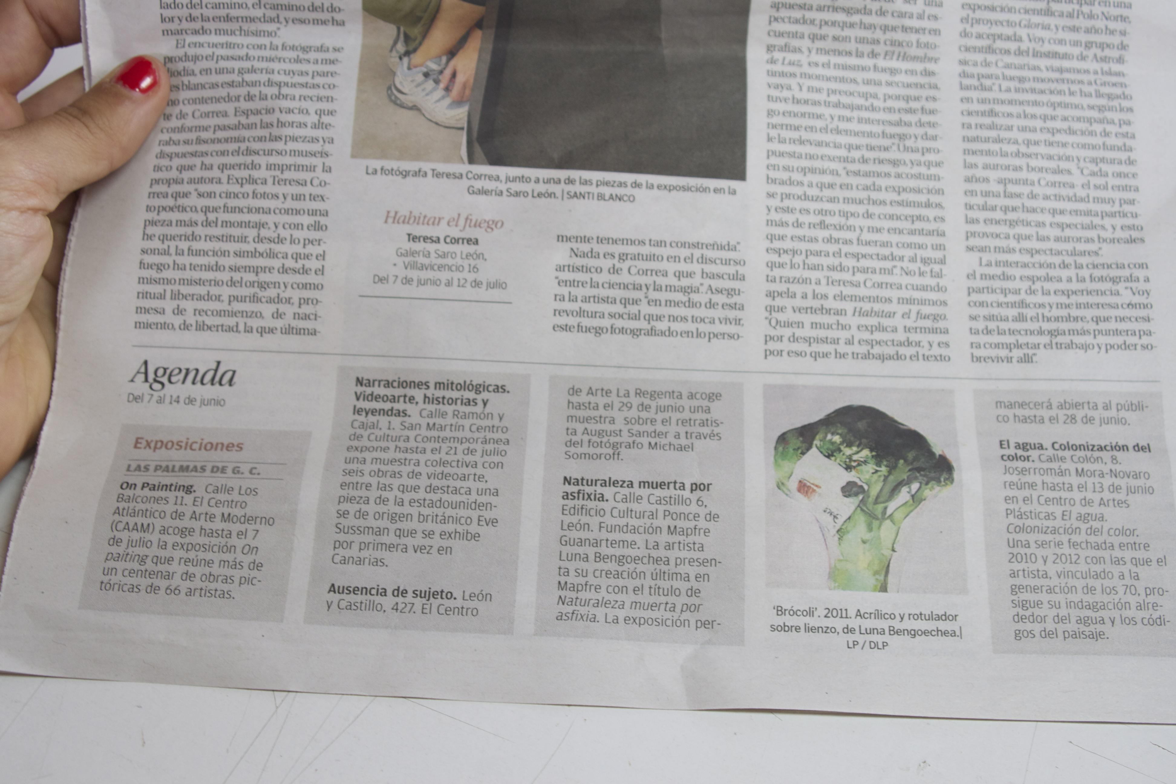La Provincia newspaper, 07 Jun 2013.