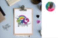 המלצה, לוגו, צבעוני, קשת