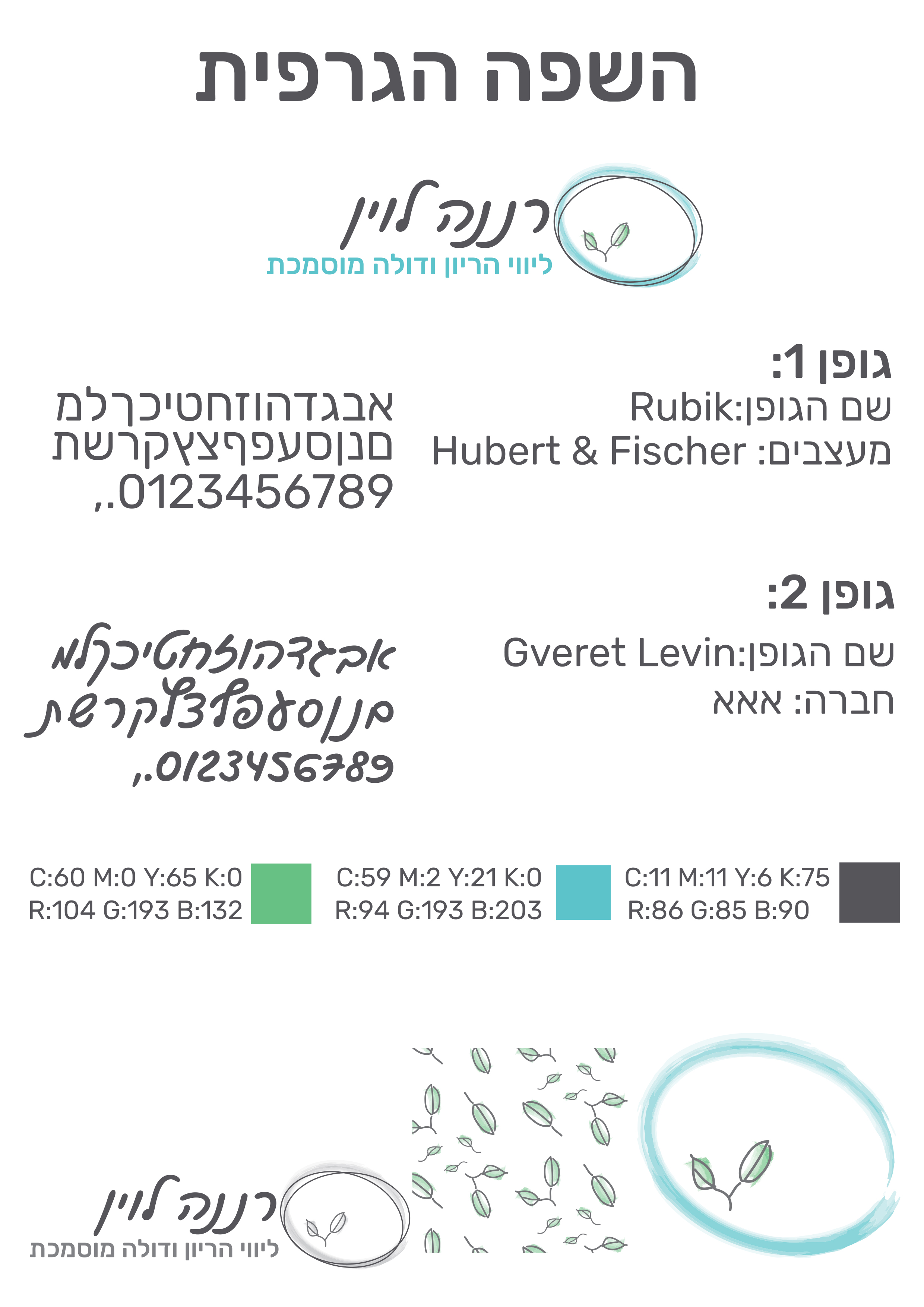 עיצוב שפה גרפית - סמדר שפיגל