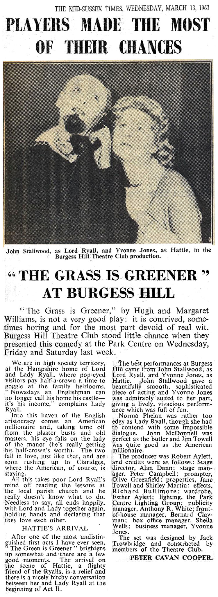 The Grass is Greener press review & photo