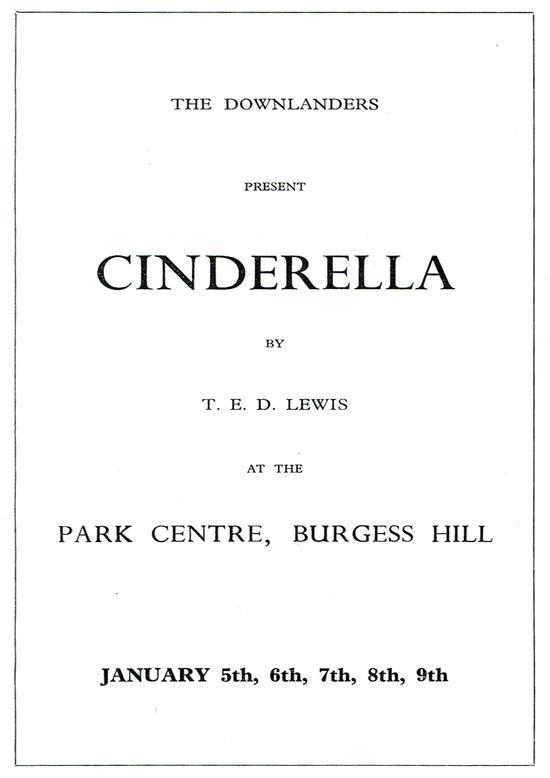 Cinderella 1965 programme