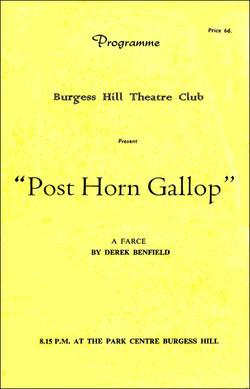 Post Horn Gallop programme