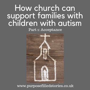 title, childlike drawn picture of church, dark grey background and website address