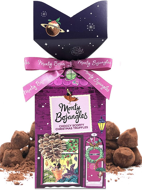 Monty Bojangles Choccy Scoffy Cocoa Dusted Truffle Tip Top Gift - 130g