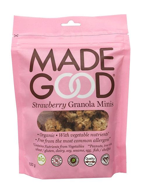 Madegood Organic Strawberry Granola Minis - 100g x 2